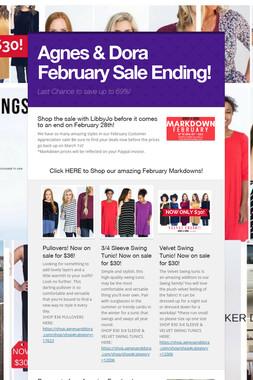 Agnes & Dora February Sale Ending!