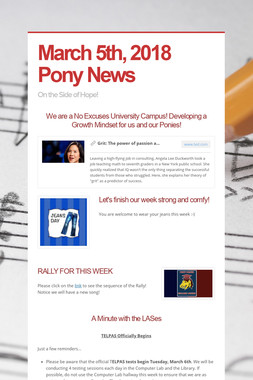 March 5th, 2018 Pony News