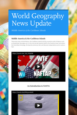 World Geography News Update