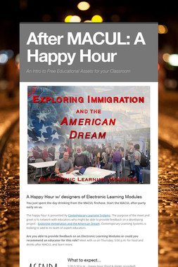 After MACUL: A Happy Hour