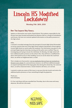 Lincoln HS Modified Lockdown!