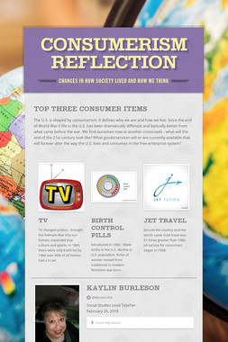 Consumerism Reflection