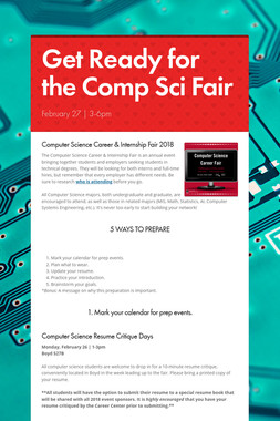 Get Ready for the Comp Sci Fair
