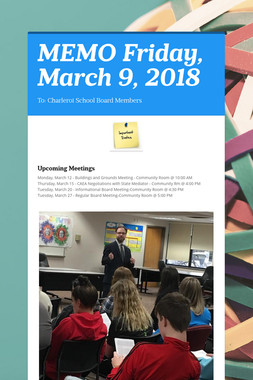 MEMO    Friday, March 9, 2018
