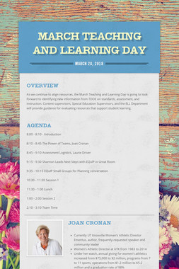 March Teaching and Learning Day