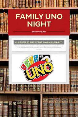 Family Uno Night
