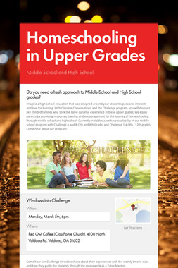 Homeschooling in Upper Grades