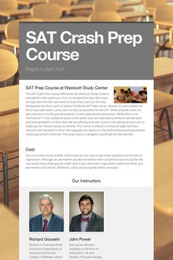 SAT Crash Prep Course