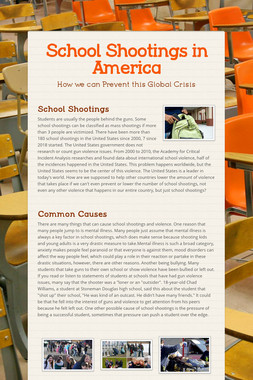 School Shootings in America