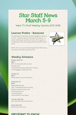 Star Staff News   March 5-9