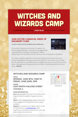 Witches and Wizards Camp