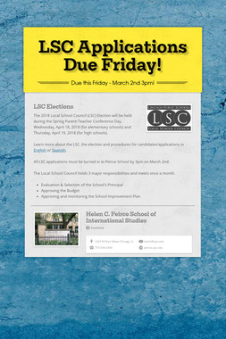 LSC Applications Due Friday!