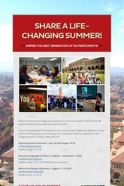 Share a Life-Changing Summer!