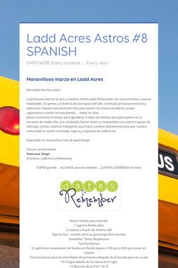 Ladd Acres Astros #8 SPANISH