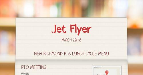 Jet Flyer | Smore Newsletters