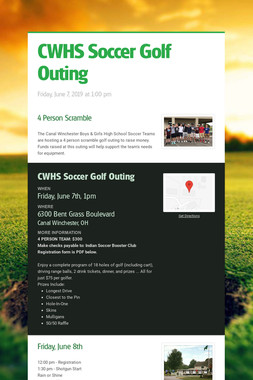 CWHS Soccer Golf Outing