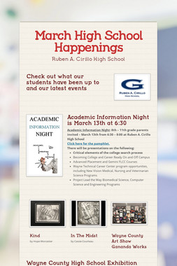 March High School Happenings