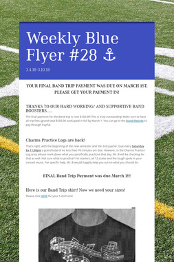 Weekly Blue Flyer #28   ⚓️