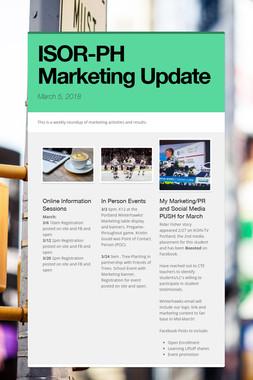 ISOR-PH Marketing Update