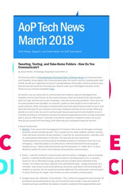 AoP Tech News March 2018