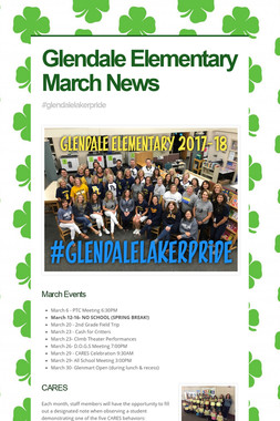 Glendale Elementary March News
