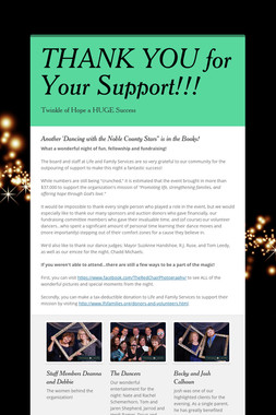 THANK YOU for Your Support!!!