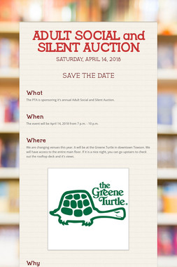 ADULT SOCIAL and SILENT AUCTION