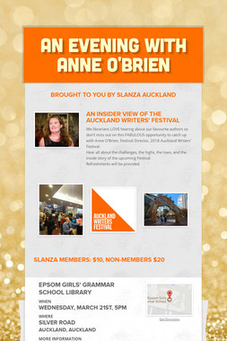An Evening with Anne O'Brien