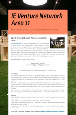 IE Venture Network Area 31