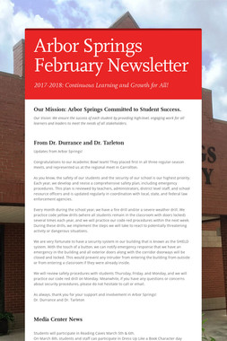 Arbor Springs February Newsletter