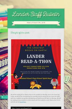 Lander Staff Bulletin