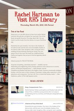 Rachel Hartman to Visit RHS Library