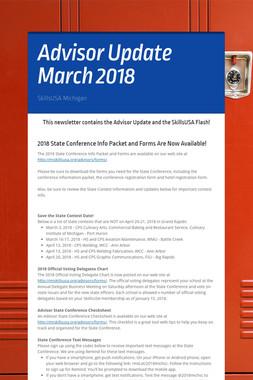 Advisor Update March 2018
