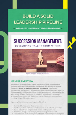 Build a Solid Leadership Pipeline