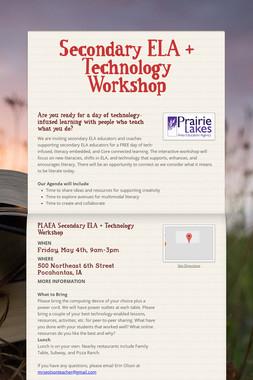Secondary ELA + Technology Workshop