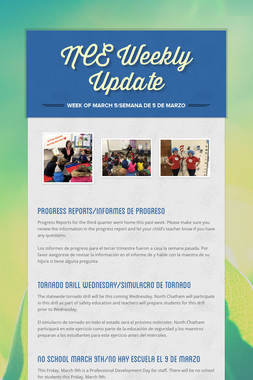 NCE Weekly Update