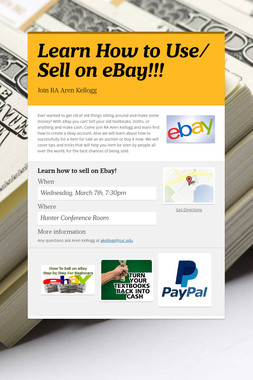 Learn How to Use/ Sell on eBay!!!