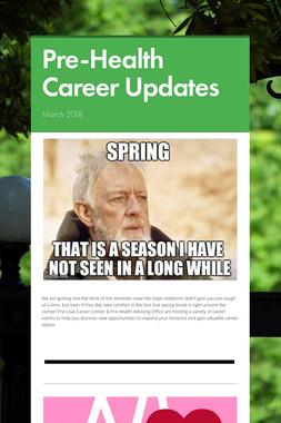 Pre-Health Career Updates