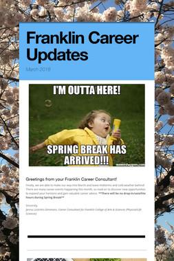 Franklin Career Updates