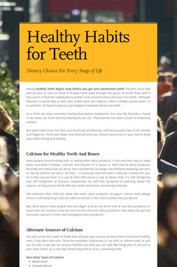 Healthy Habits for Teeth