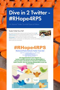 Dive in 2 Twitter - #RHope4RPS