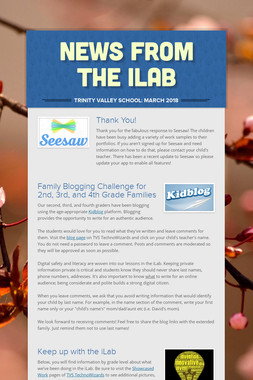 News from the iLab