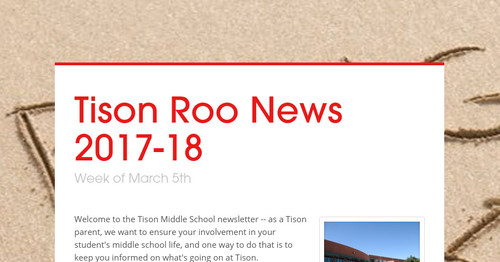 Tison Roo News 2017-18 | Smore Newsletters