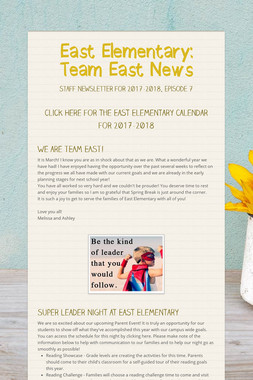 East Elementary: Team East News