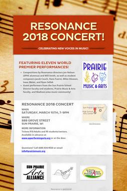 Resonance 2018 Concert!