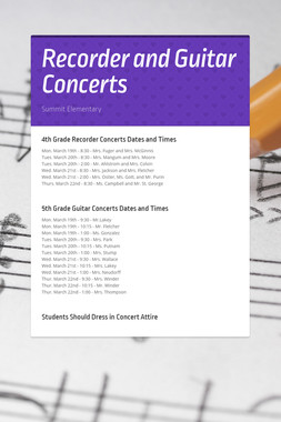 Recorder and Guitar Concerts