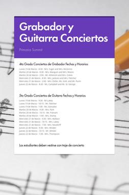 Grabador y Guitarra Conciertos