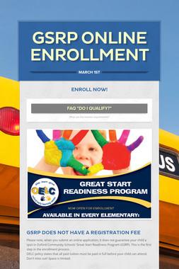 gsrp Online Enrollment