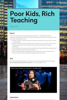 Poor Kids, Rich Teaching