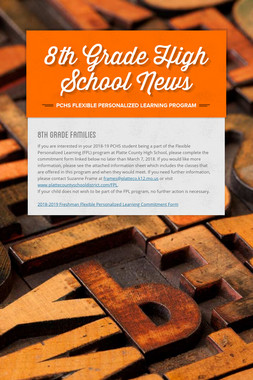 8th Grade High School News